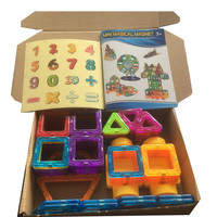 BD Toys 100pcs Mini Magnetic Block Set Designer Construction Model Building Toy Plastic Educational Toys For