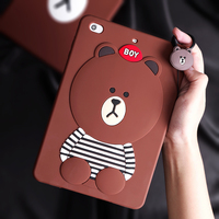 Case For IPad Mini2 Mini3 Cartoon Cute Silicone Soft Back Cover Case For IPad Mini 1
