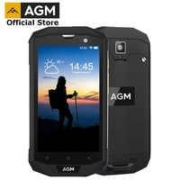 """Officiel AGM A8 5 """"4G + 64G FDD-LTE Android 7.1 téléphone portable 2SIM IP68 téléphone robuste Quad Core 13.0MP 4050mAh nouveau Smartphone NFC OTG"""