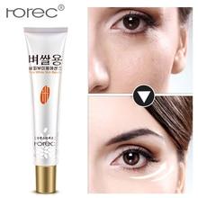 лучшая цена ROREC White Rice Eye Cream Collagen Eye Cream Face Care Anti Wrinkle Moisturizing Firming Remove Dark Circles Eye Skin Care