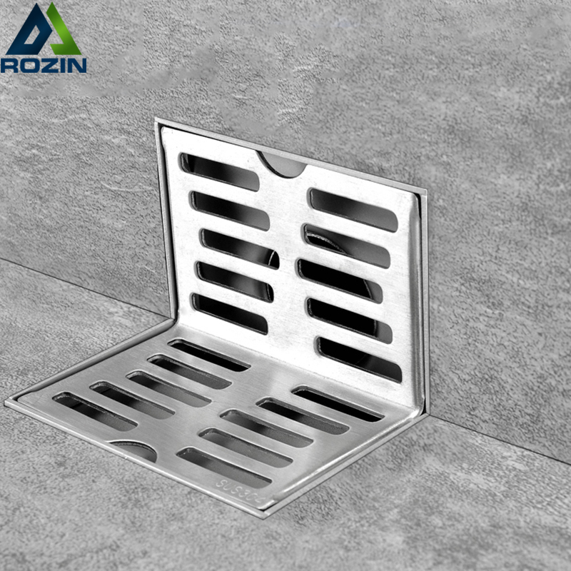 Stainless Steel Side-drain Wall Side shower Drain Balcony Wall Corner Floor Drain Same-layer Wall Drain floor