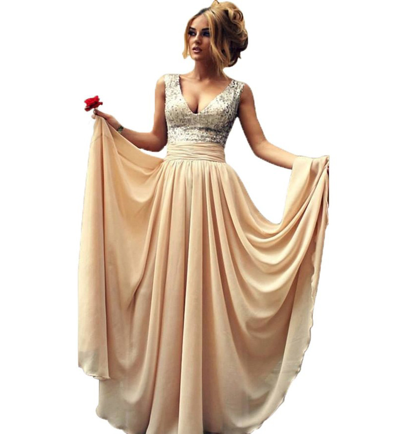 Gold Evening Gowns for Women
