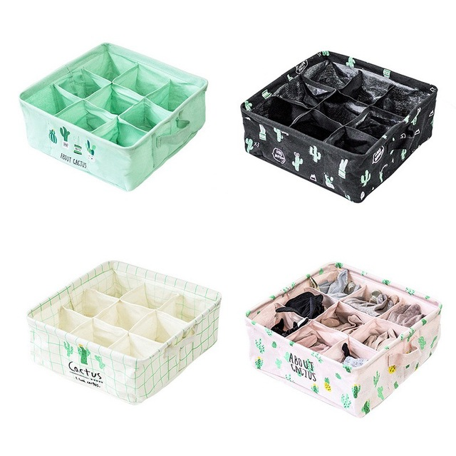 Storage Boxes For Ties Socks Shorts Bra Underwear Drawer Organizer