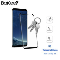 Bakeey 3d Full Cover Curved Edge Toughened Glass Membrane For Galaxy S8 For SamsungS8 HD Tempered