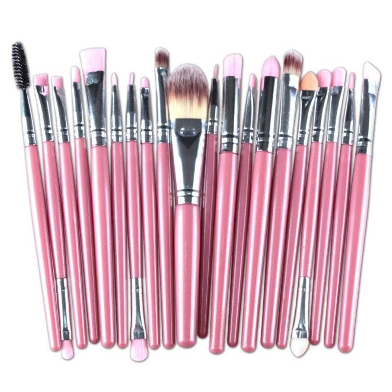 20 piezas maquillaje profesional de los cepillos conjunto de sombra de ojos de corrector colorete cepillo Kit de pincel, maquiagem Kits