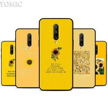 Yellow Sunflower Silicone Case for Oneplus 7 7Pro 5T 6 6T Black Soft Case for Oneplus 7 7 Pro TPU Phone Cover