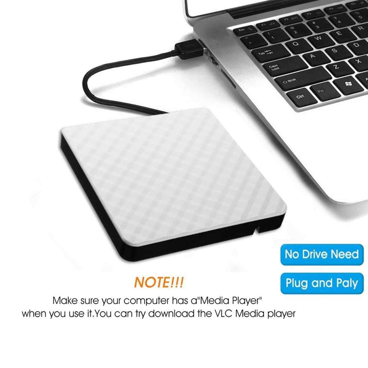LEORY نمط جديد الأبيض الخارجي USB3.0 DVD RW CD الكاتب سليم محرك الموقد قارئ لاعب نوع صينية للكمبيوتر المحمول