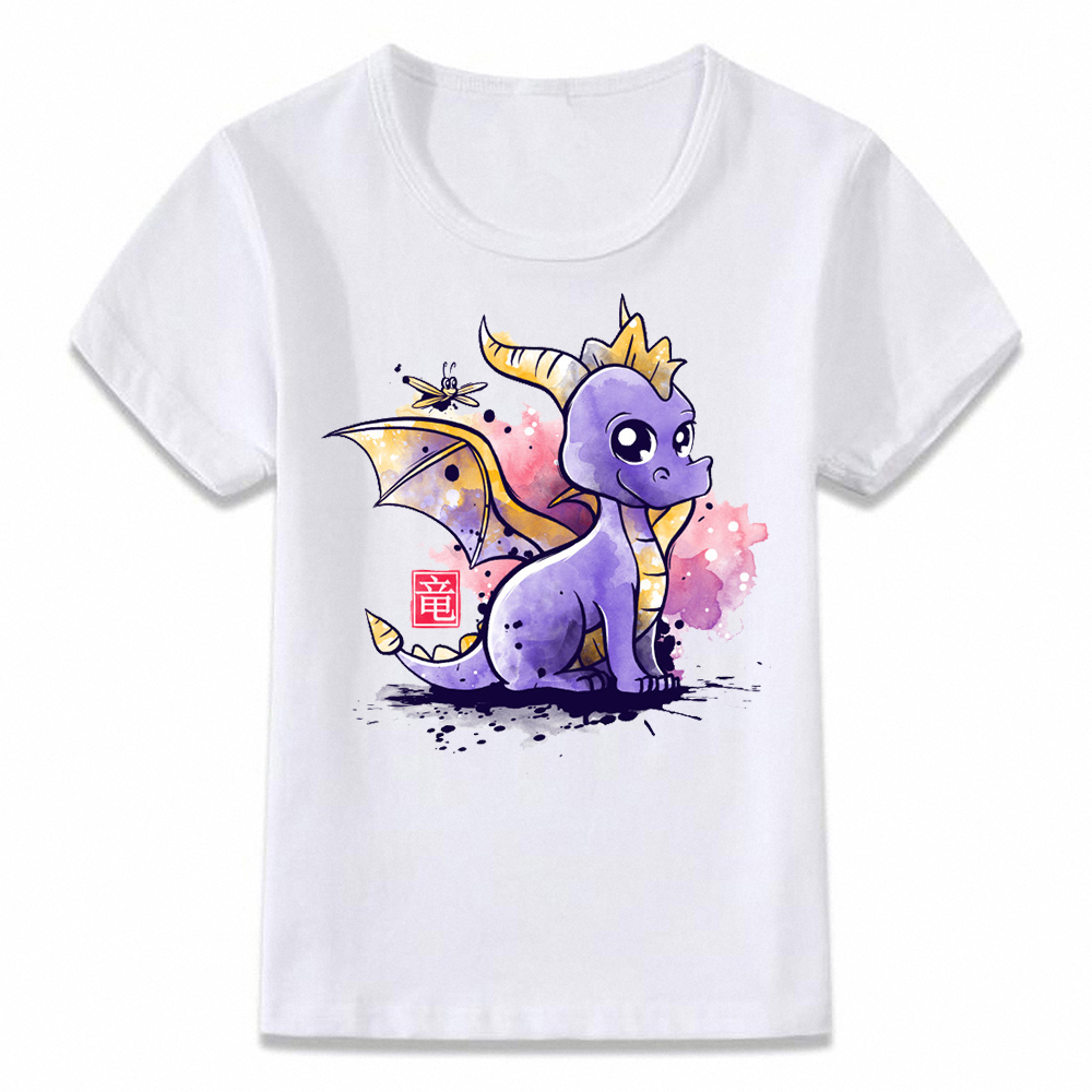 Lovely SP-yro The Dragon Kids T-Shirts Long Sleeve Tees Fashion Tops for Boys//Girls