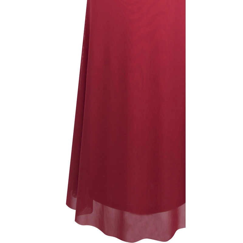 Angel-fashions Women's Cap Sleeve Pleated Sequin Mermaid Evening Dresses Red 351