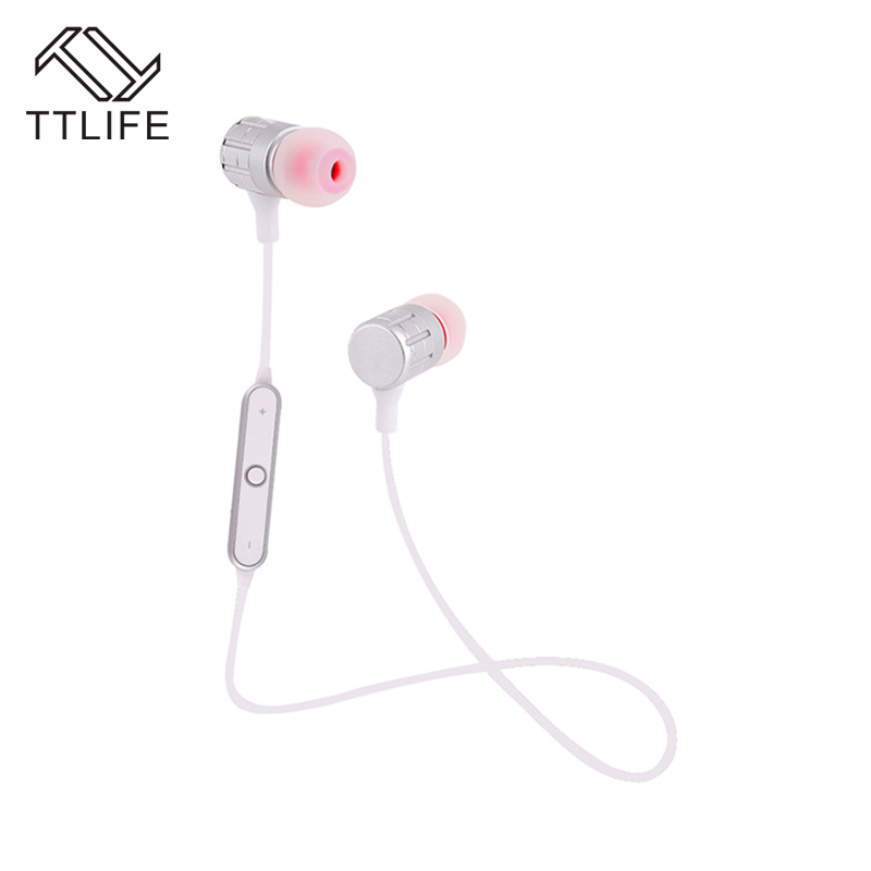 TTLIFE In-ear Bluetooth Earphone Portable Noise Cancelling Sweatproof Stereo Music Wireless Earphone With Mic for IPhone Xiaom ttlife bluetooth earphones ear hook wireless headphones sports sweatproof earphone with mic for iphone xiaomi noise cancellation