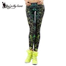 [You're My Secret]Fashion Cartoon Comic Doodles Printed Leggings Fashion High Elastic Women Fitness Leggins Mujer Pants