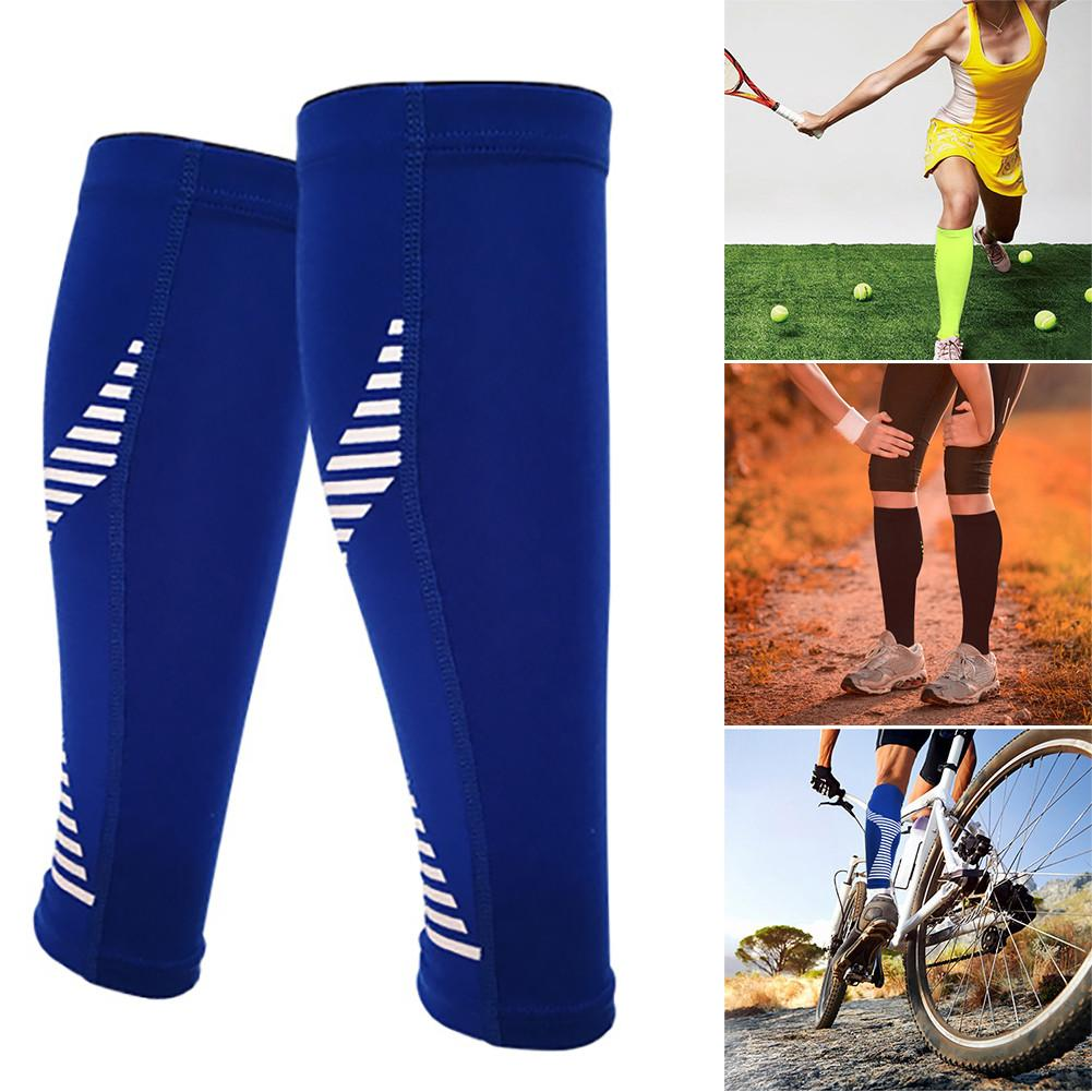 1PC Breathable Football Running Compression Calf Sleeve Elastic Sports Wrap Guard Shin Leg Sleeve Protector Basketball Knee Pads