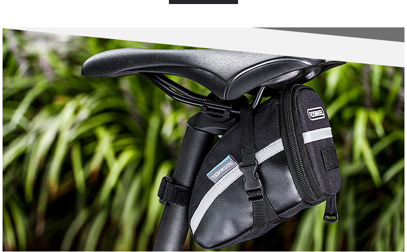 ROSWHEEL 1.2L Portable Waterproof Bike Saddle Bag Cycling Seat Pouch Bicycle Tail bags Rear Pannier Cycling equipment 27