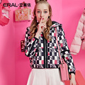 ERAL Women's Winter 2016 Slim Casual Hooded Print Thickening Short Down Jacket  ERAL12046-EDAD