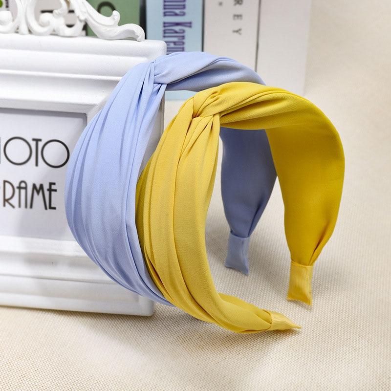 Bohemian Colored Satin Cross  Knot Headband Hairband Hair Accessories Hair Jewelry