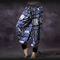 Tribal Style Belly Dancer Unisex Pants Indian Dance Egypt Grain Pattern Tribal Pants Trousers