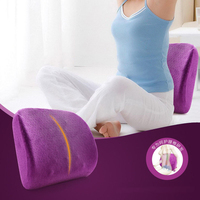 Memory Foam Lumbar Cushion Lower Back Support Pillow Washable Massage Cushion Pad For Car Seat Home