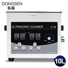 Digital Ultrasonic Cleaner 10L Power Adjust Car Parts PCB Board Mold Metal Hardware Glassware Degreasing Time