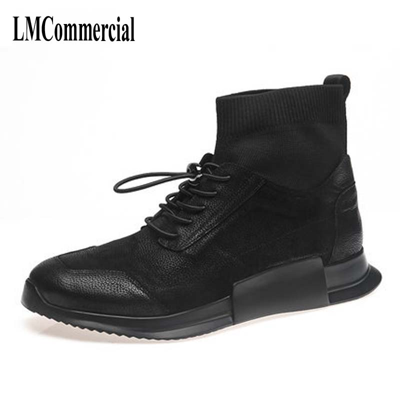 The are comfortable Casual men shoes casual leather socks shoes breathable sneaker fashion boots men casual shoes,handmade the spring and summer men casual shoes men leather lace shoes soled breathable sneaker lightweight british black shoes men