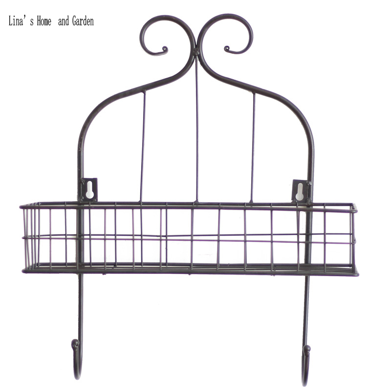 Brilliant Us 28 77 Indoor Outdoor Beautiful Handcrafted 2 Hooks Metal Wire Antique Wall Shelf In Storage Holders Racks From Home Garden On Aliexpress Pabps2019 Chair Design Images Pabps2019Com