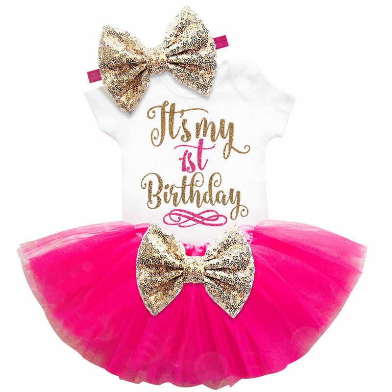 ... Niña ropa De bebé trajes De 1 2 años cumpleaños De fiesta vestidos para  niñas bautismo ... 71d73138993c