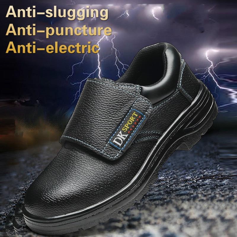In puntura Impermeabile slugging Protezione Anti Lavoro elettrico Scarpe  Acciaio Il Nero Di Striscia Anti ... 7724c40818a