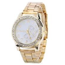 2018 venda Quente de Luxo Diamante mulheres Relógio de Aço Inoxidável Esporte Quartz Hour Mostrador de Relógio de Pulso relogio feminino Relógios De ouro Prata