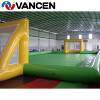 16*8*2m new inflatable soccer field for sale popular inflatable football court durable inflatable football field for sale