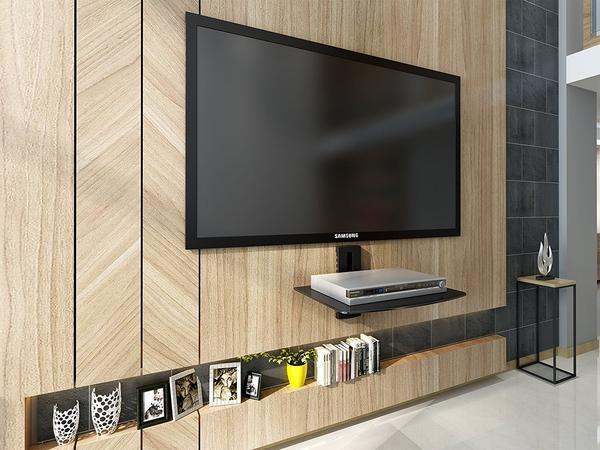 Fitueyes wall mount Av shelf Black DVD DVR VCR Wall Mount Bracket Component Shelf DS103801GB dvd mount