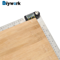 DIYWORK Digital Angle Ruler 30cm 12 360 Degree Protractor Stainless Steel Inclinometer Goniometer Electronic Angle Gauge