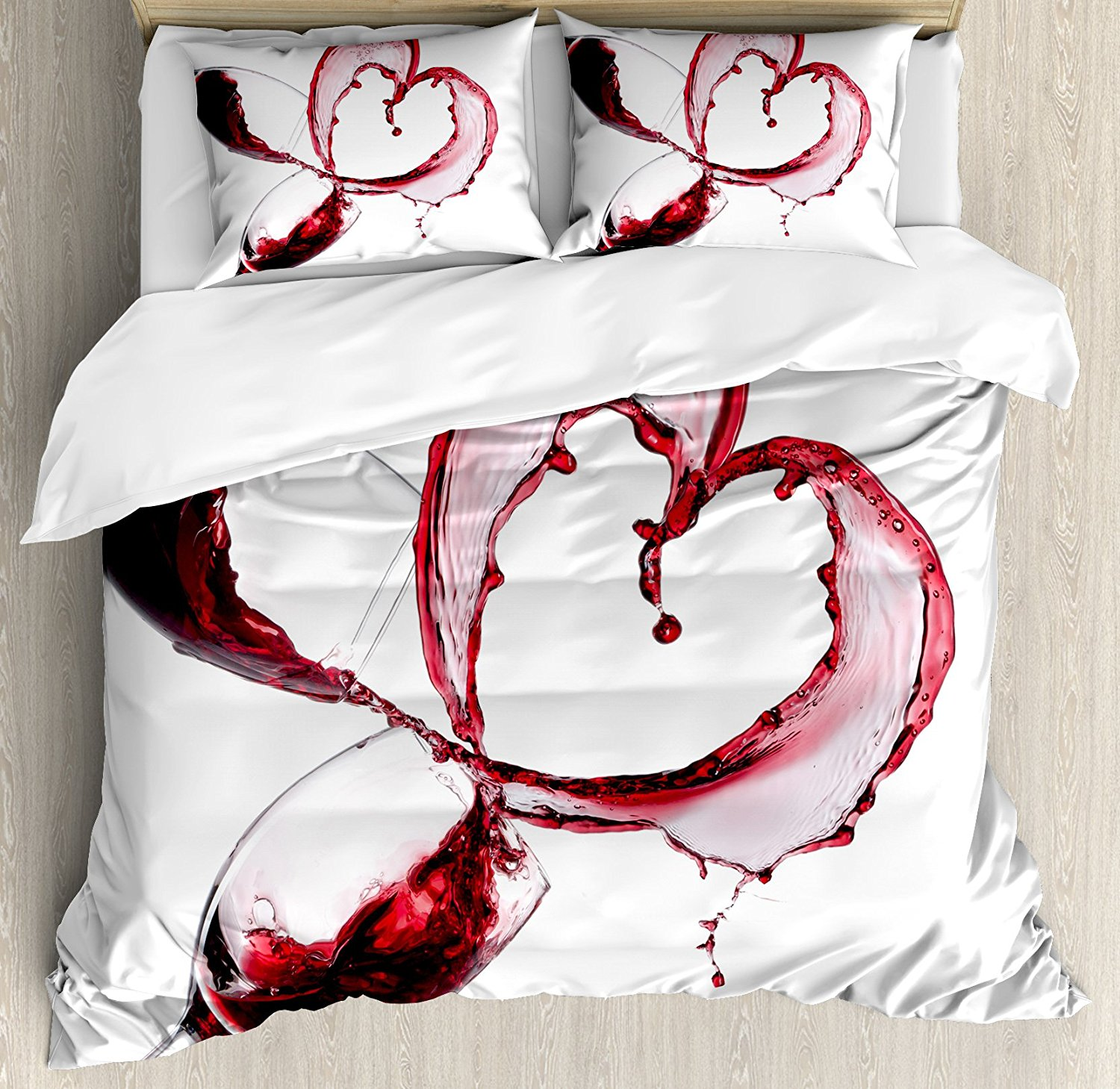 duvet red set bedding spice lola cover