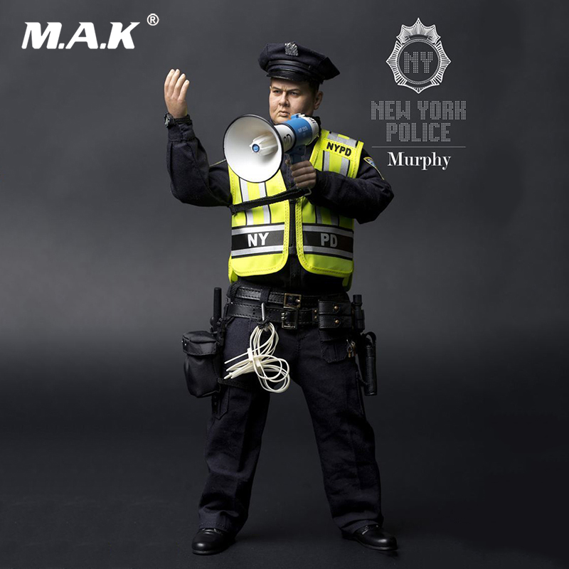 For collection 1/6 New York Police 2.0 Murphy Movable Male Action Figure Doll Full Set Figure gift for collector new hot 18cm one piece donquixote doflamingo action figure toys doll collection christmas gift with box minge3