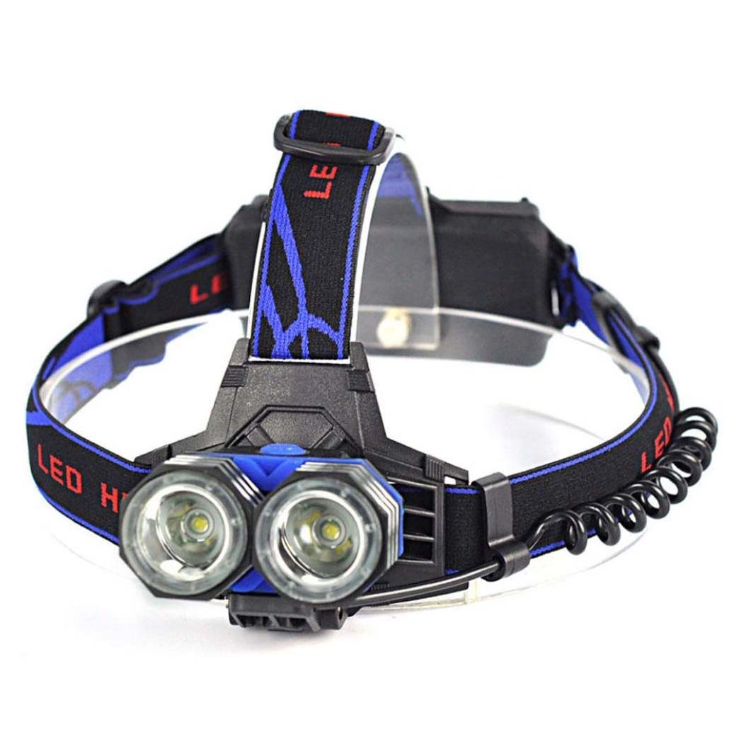 2 x 5000 lumens T6 USB LED Headlamp
