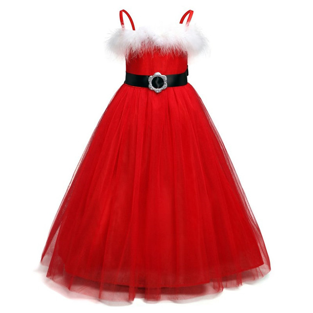 fancy childrens christmas dress baby girls dresses tutu red xmas outfits clothes girl children cosplay halloween