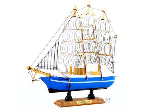 [Free shipping] Hot models Wooden sailing crafts decorations