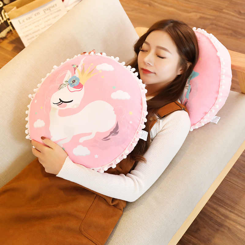38cm Dreamlike 유니콘 플러시 베개 완구 소파 쿠션 박제 말 인형 어린이 소녀 생일 선물