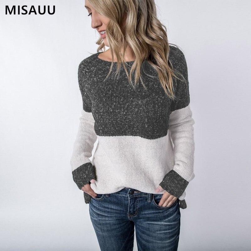 Misauu Autumn Winter Pull Sweaters Women 2019 Fashion Loose Jumpers Korean Pullovers Knitting Pullovers Thin Christmas Sweater