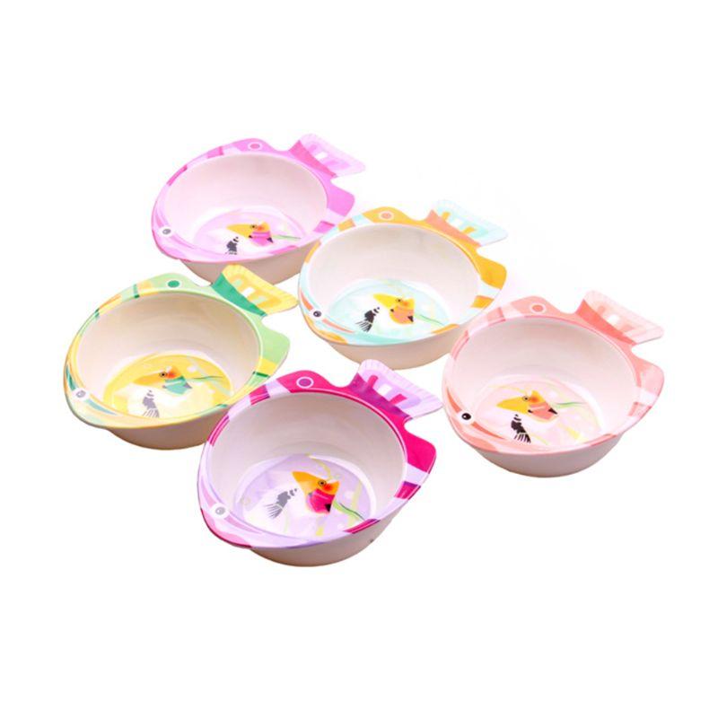 Baby Bowl Cartoon Fish Shape Cute Newborn Feeding Bowls Dishes Food Grade Tableware Children Kids Food Soap Cutlery Supplies