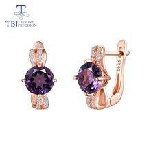 Женские серьги с аметистом tbj Подарочные ювелирные украшения