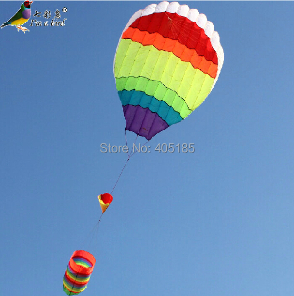 Free Shipping Outdoor Fun Sports Hot Air Balloon Power  Kite 2014 New Good Flying