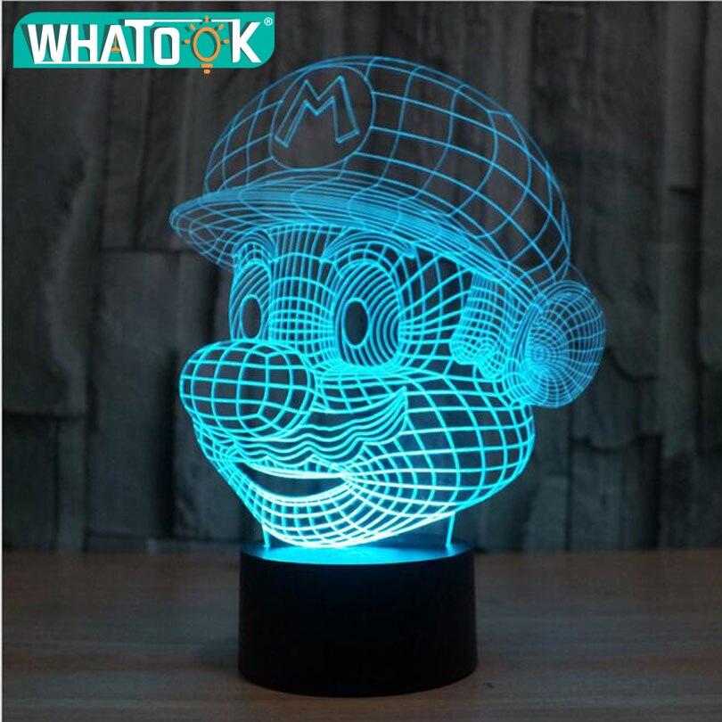 Dimbare Led Lamp Action.Beste Koop Super Mario Bros Action Figure Speelgoed Decoratie Led
