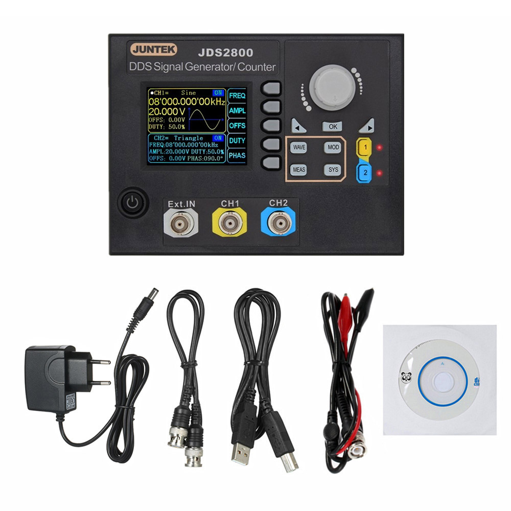 JDS2800-60M Signal Generator Digital Control Dual-channel DDS Function Arbitrary Signal Generator Frequency Meter 60MHz 266MSa/s цены
