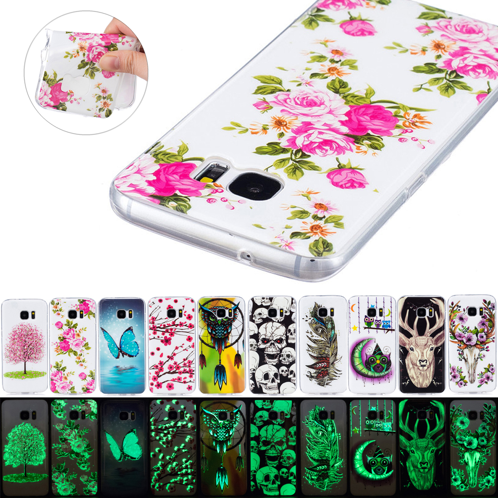 luminous case for coque samsung galaxy s5 s6 s7 edge g530 j3 j5 j7 a3 a5 cases soft tpu silicone. Black Bedroom Furniture Sets. Home Design Ideas