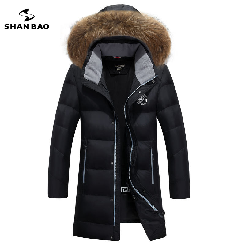 2018 winter new style cold-resistant thick warm men's fashion casual long hooded down jacket zipper pocket parka down coat M-6XL