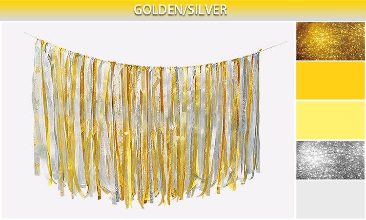 0.75M DIY pjenušava zlato srebro vrpca pozadina Vjenčanje rođendan - Za blagdane i zabave - Foto 4