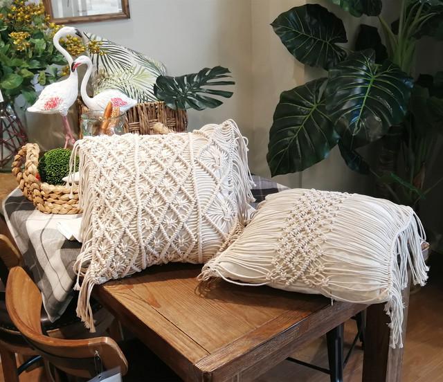 Bohemian Macrame Pillow Cover