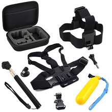 Collecting Bag Accessories Set for Gopro Hero 5 Go pro Session 4 for SJCAM SJ4000 for Xiaomi yi 4K EKEN H9 Tripod Action Camera