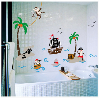 Coconut Palm Monkey Wall Stickers