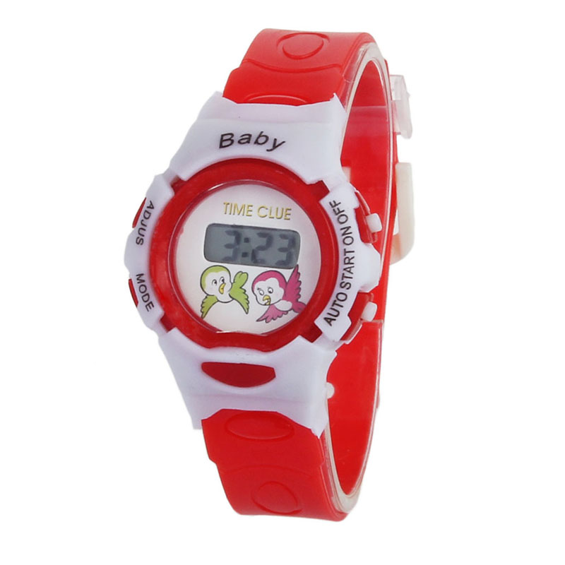 2018 New Colorful Boys Girls Students Time Electronic Digital Cute Colourful Daily Wrist Sport Watch School Children Gifts F60 Good Taste Children's Watches