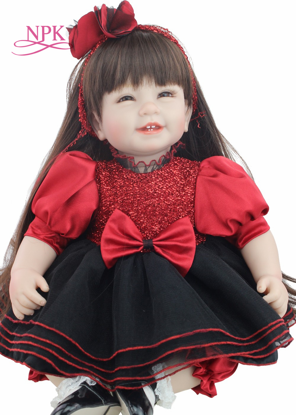NPK 2016 NEW designl wholesale baby dolls fashion doll accompany toys with earily education doll